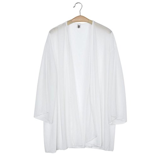 [Coat ,Beautyvan Women Light Loose Chiffon Sheer Kimono Cardigan Blouses (M, White)] (Difference Between Fashion Jewellery And Costume Jewellery)