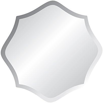 24″ X 24″ Star Frameless Bevel Wall Mirror