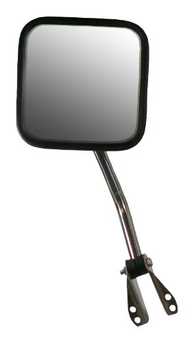 Steel Jeep Rear Driver (CIPA 44550 Jeep CJ OE Style Manual Stainless Steel Replacement Driver Side Mirror)
