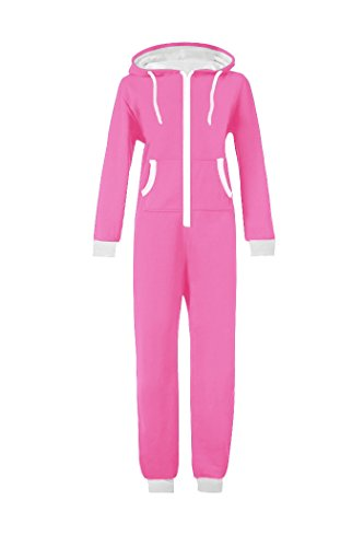 WOTOGOLD Men And Women Adult Pajamas Sportswear Hooded Unisex Jumpsuit ,Small,Pink -