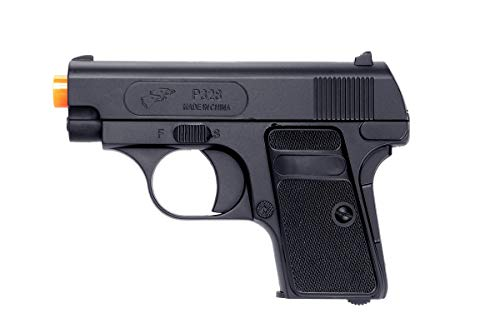 Double Eagle A&N P328 Compact Spring Airsoft Pistol Hand Gun with 6mm BBS BB Black Great Pistol for Entry Level Airsoft Players