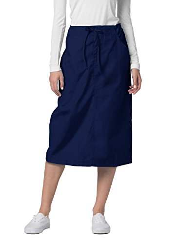 - Adar Universal Mid-Calf Length Drawstring Skirt (Available is 17 Colors) - 707 - Navy - Size 14