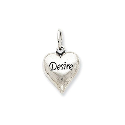 (925 Sterling Silver Desire Heart Pendant Charm Necklace Love S/love Message Fine Jewelry Gifts For Women For Her)