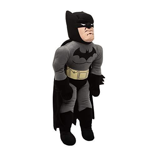 DC Comics Batman Character Shaped Soft Plush Cuddle Pillow, Black/Grey