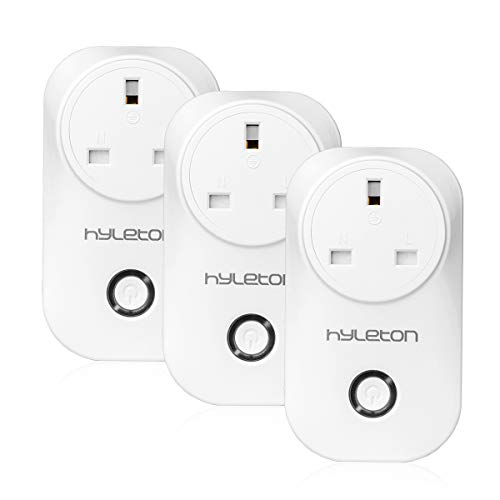 Smart Plug, hyleton WiFi Plug Compatible with Alexa/Google Home/IFTTT, APP Remote Control Plug Smart Home Device at Anywhere and Anytime, Timing and Countdown Function Support No Hub Required