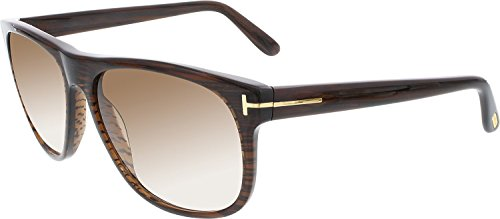 Tom 236 (Tom Ford Olivier FT0236 Sunglasses-50P Brown Striated (Brown Gradient Lens)-58mm)