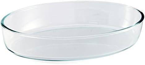 BCSA PL10 Bandeja para Horno Ovalado de Cristal borosilicato 35 x ...