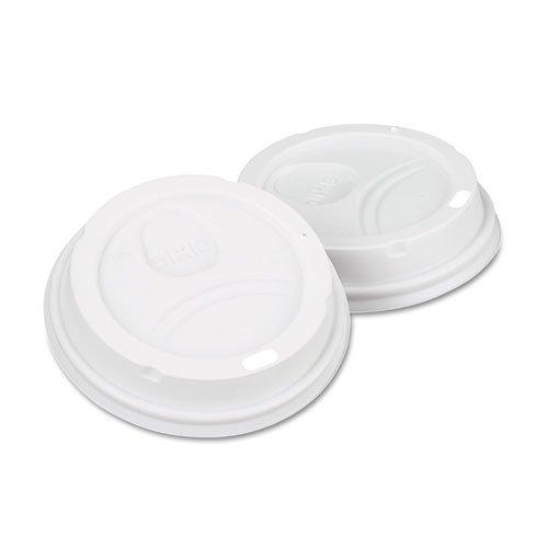 DIXIE 9542500DXPK Dome Drink-Thru Lids, Fits 10, 12 & 16oz Paper Hot Cups, White, 50/Pack