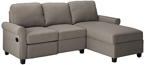 Right Reclining Sectional - Serta Copenhagen Reclining Sectional with Right Storage Chaise - Gray