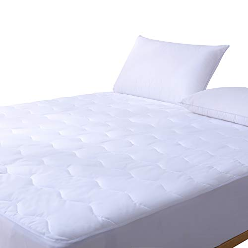 SweetBed Waterproof Mattress Pad Hypoallergenic Quilted 200TC Cotton Cover Protector (Full) ()