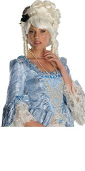 Marie Antoinette Costumes Wig (Secret Wishes  Costume Marie Antoinette Wig with Black Rose, White, One Size)