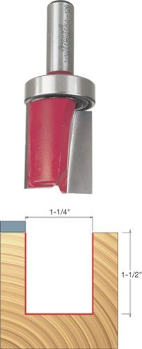 Freud 50-126 1-1/4 Diameter Top Bearing Flush Trim Router Bit with 1/2 Shank by Freud