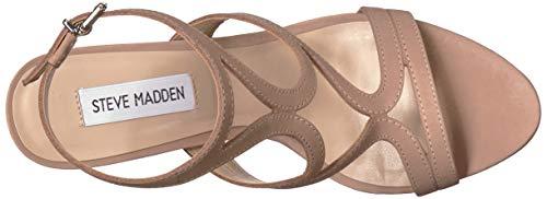 Us Sidney Women's Tan Steve Madden M Nubuck 5 Sandal Heeled 9 qvEfw4