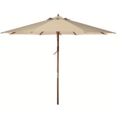 9 Ft Wood Patio Umbrella - Natural