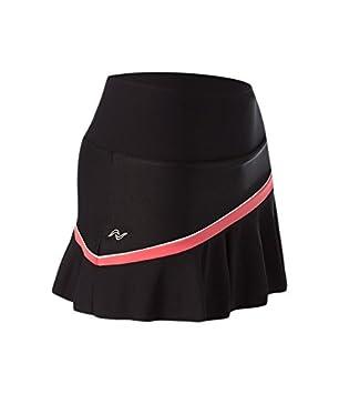 Naffta Tenis Padel - Falda-Short para Mujer, Color Negro/Coral Medio, Talla L: Amazon.es: Deportes y aire libre