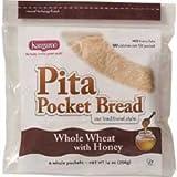 Kangaroo Whole Wheat Honey Pita Pocket Bread, 10 Ounce - 12 per case.