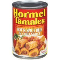 Hormel Beef Tamales in Chili Sauce 15oz Can (Pack of 6) (Hot N' Spicy) by Hormel