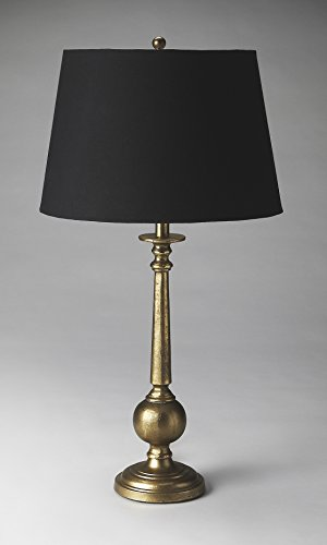 31.5 in. Table Lamp in Antique Brass Finish by Butler