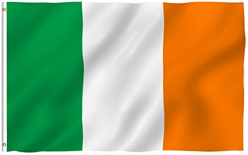 ANLEY [Fly Breeze] 3x5 Foot Ireland Flag - Vivid Color and UV Fade Resistant - Canvas Header and Double Stitched - Irish National Flags Polyester with Brass Grommets 3 X 5 Ft