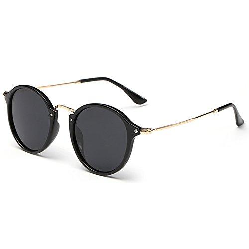 unisex mujeres Sombras sol Highdas de polarizadas de retro Gafas de nuevas redondo los Multicolor gafas conducciOn 68nrqv85F