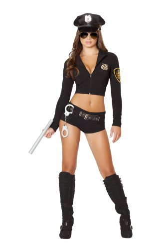 Roma Costume Women's 7 piece Officer Hottie, Black, Small/Medium