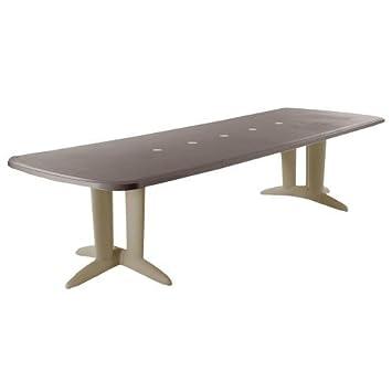Table rectangulaire résine Deco 2 allonges 180/250/320 x 112 cm ...