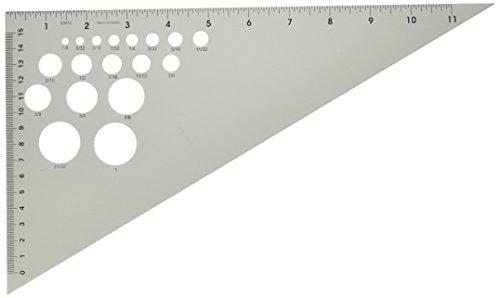 Alumicolor 83012 Ludwig Precision 12-Inch 30-60-90-Degree Triangle (Triangle Scale)