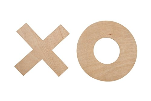 Uber Games Replacement Game Pieces for Giant Tic Tac Toe Game - Wooden - Set of 10 by Uber Games