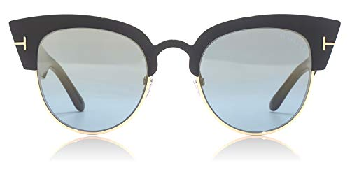 Tom Ford FT0607 05X Black Alexandra Retro Sunglasses Lens Category 2 Lens Mirro