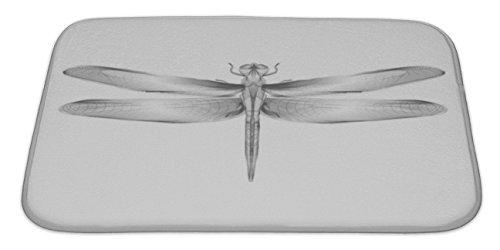 Gear New Dragonfly For Print Tatto Tshirt Bath Mat Rug, Microfiber Memory Foam with no skid back, 34