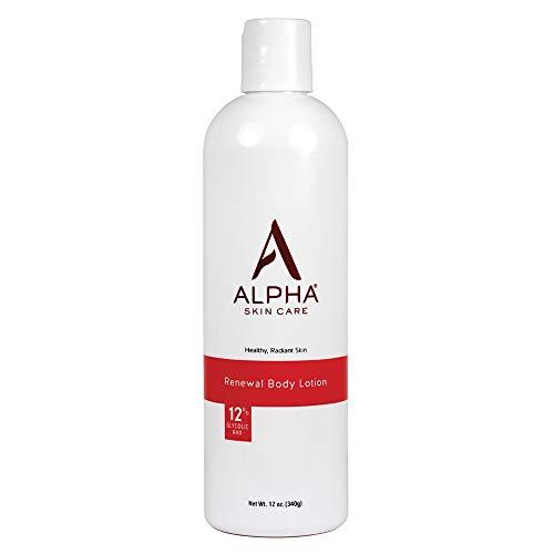 Alpha Skin Care Renewal Body Lotion   Anti-Aging Formula  12% Glycolic Alpha Hydroxy Acid (AHA)   Reduces the Appearance…