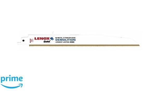 QTY 25 9/' 10TPI Titanium Edge Demolition Recip Blade LENOX Gold 960G