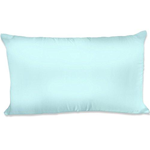 Polyester Satin Pillowcase - Spasilk 100% polyester Satin Hair Beauty Pillowcase, King, Aqua