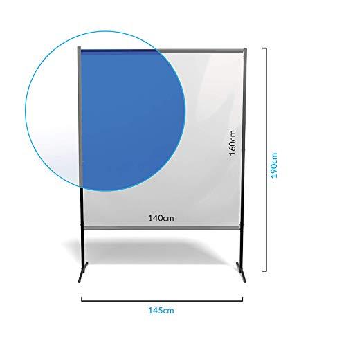 Novamat - Separador de pared para oficina, proteccion antigoteo, proteccion contra la tos, proteccion de los contactos, transparente transparente transparente