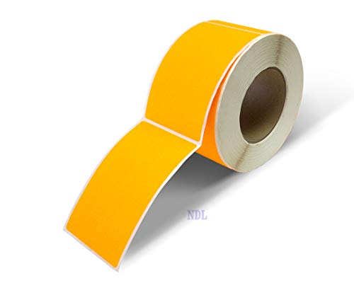 Next Day Labels, 3 X 5 Rectangle Inventory Color Coding Labels, 500 Per Roll (Fluorescent Orange)