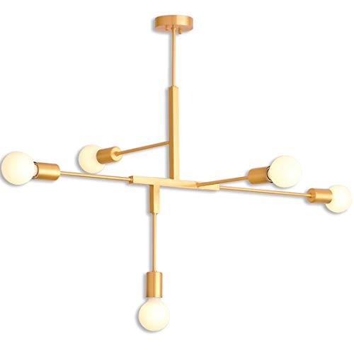 Iluminación de araña Sputnik de 5 luces, iluminación ...