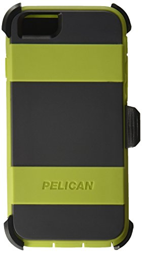 Pelican Voyager Rugged Case with Kickstand Holster for iPhone 6/6s - Retail Packaging - Green & - Lg Clip Belt Voyager