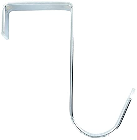 Good Bulk Hardware BH03349 Heavy Duty Over Door Hanger With Single Oval Hook    Polished Chrome