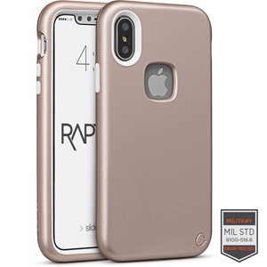 Cellairis iPhone X - Rapture Black/Black Matte Finish Case (Rose Gold) from Cellairis