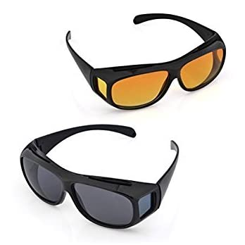 Divinext HD Polarized Sunglass and Night Vision Glasses Unisex|Combo