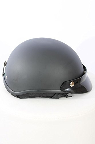 Motorradhelm Halbschalenhelm TC-55 schwarz matt L ABS, Polycarbon Polystyron
