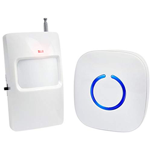 SadoTech Wireless PIR Motion Sensor Doorbell Operating at 500-feet Range with Over 50 Chimes, White