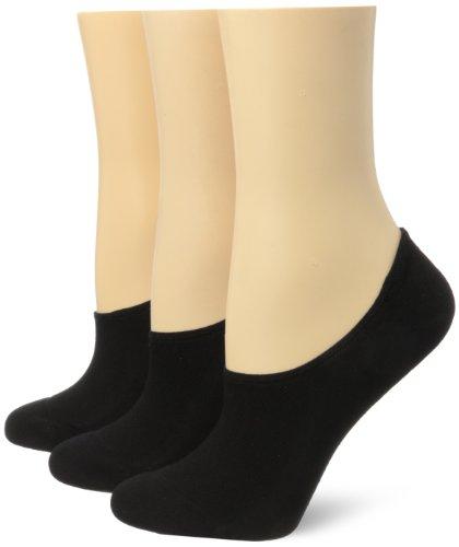 Hue Liner Womens - Hue Women's Air Sleek Liner 3 Pack Athletic Socks, Black, One Size
