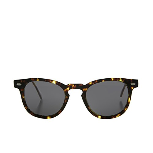 Tortoise James Dean Style Horn Rim Sunglasses with Gray Lens - - Sunglasses Benson