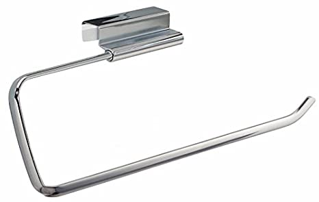 Amazon.com: mDesign Over-the-Cabinet Kitchen Paper Towel Holder - Chrome: Kitchen & Dining