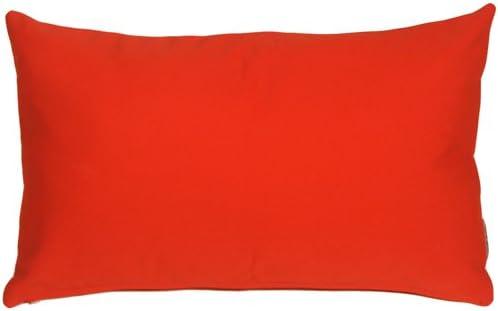 PILLOW D COR Sunbrella Logo Red 12×19 Outdoor Pillow
