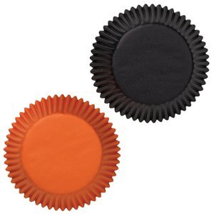 Wilton Standard Baking Cups, Assorted Black and Orange, 75 Count -