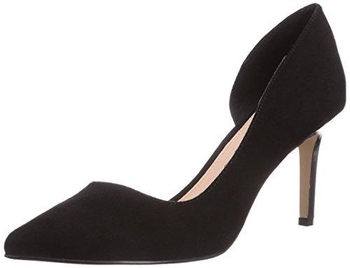 H733 BLACK P1751A de tacón negro Buffalo Schwarz 25 sintético material de zapatos 01 cerrados mujer dqawOp