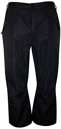 Pulse Women's Plus Size Technical Insulated Snow Pants (3X, Black)