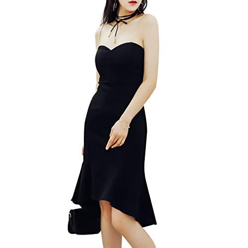 Xs Tamaño Sexy Fiesta Vestido Novia Negro Red De color Ailin Home Delgado Banquete Para Era Mujer F0F4Ow6q